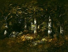 Forest of Fontainebleau, 1868 by Narcisse-Virgilio Diaz. landscape