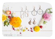 New striped earrings! Handmade in Nashville TN with gold filled and sterling silve wire by Freshie & Zero.