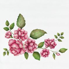 peonies flowers stencil | ... Nature, Fruit & Floral Stencils » Peony Rose Floral & Vine Stencil