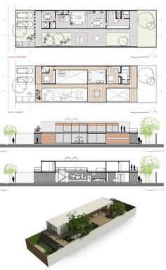 Fiverr freelancer will provide Architecture & Interior Design services and design shipping container projects within 3 days Narrow House Designs, Narrow House Plans, Modern House Plans, Modern House Design, House Floor Plans, Container House Plans, Container House Design, Home Design Plans, Plan Design