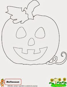 scheda da colorare su Halloween