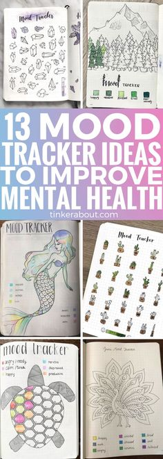 Improve your mental health with a mood tracker for your bullet journal! Click through to find 13 super adorable mood tracker ideas to add to your bullet journal layout. ⎜bullet journal ideas, monthly mood tracker, bullet journal inspiration, bullet journal setup, bullet journal pages #bujo #moodtracker #bulletjournal #bulletjournaling