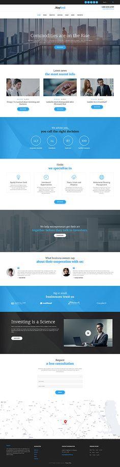 Template 60053 - Hayford Business  Responsive WordPress  Theme