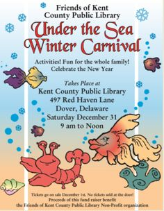"""The theme of the upcoming 2016 Winter Carnival is """"Under the Sea."""" This will be our fifth year!"""