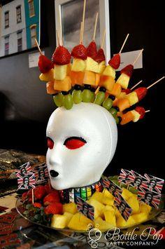 Mohawk fruit display rockstar party Shannanigans: Bottle Pop Parties: Punk Rock Baby