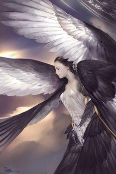 being-a-different-angel: Sessão Fantasy Dark Angels, Fallen Angels, Angels Among Us, Angels And Demons, Fantasy Kunst, Fantasy Art, Fantasy Creatures, Mythical Creatures, Fantasy Angel