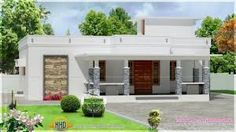 Most beautiful small house front elevation designs Flat Roof House Designs, House Roof Design, Small House Exteriors, Small House Interior Design, House Plans For Sale, Free House Plans, Modern House Plans, House Elevation, Front Elevation