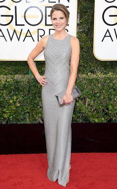 Natalie Morales from 2017 Golden Globes Red Carpet Arrivals