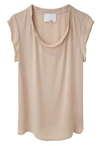 I have a very similar silk top and it goes with EVERYTHING!!