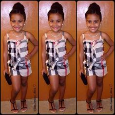 shes pretty just the hairdo nd make up doesnt match d outfit ,this hairdo nd make up might look bettwe with a grown or a long dress Little Girl Outfits, Cute Outfits For Kids, Little Girl Fashion, Boy Fashion, Boy Outfits, Fashion Ideas, Cute Kids Fashion, Toddler Fashion, Divas