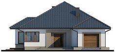Elewacja frontowa projektu Hipokrates My House Plans, House Floor Plans, Bungalow, Gazebo, Shed, Outdoor Structures, Flooring, Outdoor Decor, Home Decor