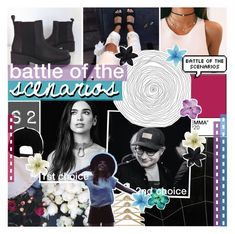 """""""37. battle of the scenarios S2 ❁❤♡"""" by r-elentless ❤ liked on Polyvore featuring PAM, Brixton, Clips and ASOS"""