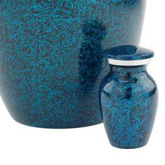 Starry Night Blue Keepsake Urn   Keepsake Urns, Small Urns & Token Urns   www.stardust-memorials.com #blue