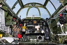 Northrop P-61B Black Widow N550NF / 42-39445 (cn 964) A rare look inside of the cockpit of a P-61. This aircraft is undergoing extensive restoration in the hopes of gracing the skies once more.