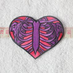 Muscle Rib Pulse Embroidery The Heart-shaped Patches / 0190 Punk Patches