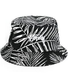 Stussy    Palm Bucket Hat  zarey rey Designer Bucket Hats b20ff48e6774