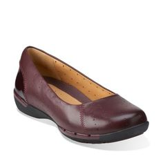 Un Hearth Burgundy Leather - Clarks Womens Shoes - Womens Heels and Flats - Clarks - Clarks® Shoes