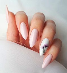 Easy Spring Nails & Spring Nail Art Designs To Try In Simple spring nails colors for acrylic nails, gel nails, shellac spring nails, as well as short spring nails. These easy Spring nail art ideas with flowers, glitter and pastel colors are a must try. Cute Spring Nails, Spring Nail Colors, Spring Nail Art, Nail Designs Spring, Summer Nails, Nail Art Designs, Almond Nails Designs Summer, Pink Nails, Gel Nails