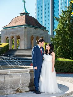 Romantic Bride and Groom Photo. Niagara Parks Weddings has amazing wedding venues like Oakes Garden Theatre. Niagara Falls Elopement. #JoshBellinghamPhotography