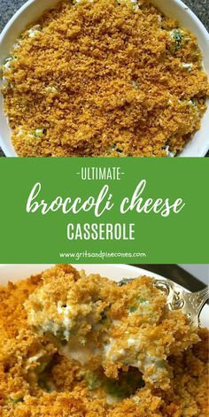 When you see a recipe with the name Ultimate Broccoli Cheese Casserole, you expect it to be pretty spectacular. Well, this recipe for broccoli casserole, with Ritz crackers and loaded with cheesy goodness, lives up to its name! Broccoli Cheese Casserole Easy, Chicken Broccoli Cheese, Easy Casserole Recipes, Chicken Casserole, Lemon Chicken, Ritz Cracker Broccoli Casserole, Easy Recipes, Vegetable Casserole, Steamed Broccoli