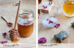 Cardamon infused green tea with rose-water, honey and a hint of saffron. Seve hot or iced