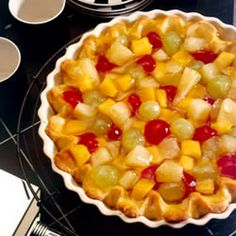 Pastel de cóctel de frutas