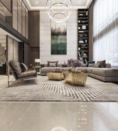 Modern Asian luxury interior design # futuristic design # house design # house interior design # in Futuristisches Design, Design Room, Design Ideas, Lobby Design, Asian Design, Time Design, Design Concepts, Sofa Design, Interior Design Living Room