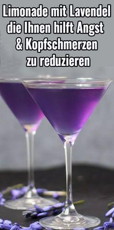 Limonade mit Lavendel, die Ihnen hilft Angst und Kopfschmerzen zu reduzieren