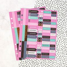 Words & Numbers My Prima Planner Mini Stickers