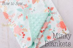 A couple weeks ago, I made an adorable minky baby blanket for my niece Kayla. I made anotherone for a friend's baby and figured Ican take pictures along the way so I can write a full tutorial for you! All you need is one yard of two kinds of fabrics and it comes together fast! …