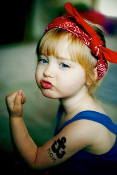 So cute! I want to dress up every little girl I know as Rosie the riveter  and take pics.