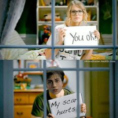 "Bahahaha you'd have to have seen Taylor Swift's ""You belong with me"" video and know Harry Potter to get it (:"