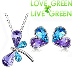 free shipping top quality Brand design wedding Wholesales GP Austrian Crystal dragonfly Pendant necklace earrings Jewelry Set //Price: $10.00 & FREE Shipping // Get it here ---> http://bestofnecklace.com/free-shipping-top-quality-brand-design-wedding-wholesales-gp-austrian-crystal-dragonfly-pendant-necklace-earrings-jewelry-set/    #best_of_Necklace