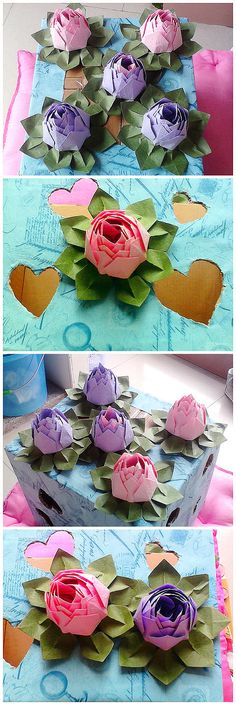 "Fold origami tutorial art of ... in accordance with the ""Paper complex"" Lotus tutorial, ..."