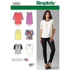 Diy Clothing, Clothing Patterns, Sewing Blouses, Make Your Own Clothes, Shirt Bluse, Creation Couture, Simplicity Sewing Patterns, Top Pattern, Dressmaking
