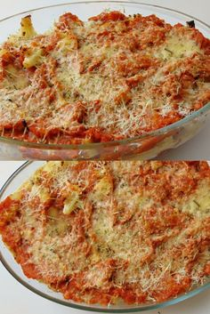 Baked cauliflower with tomato Healthy Low Carb Recipes, Vegetable Recipes, Vegetarian Recipes, Baked Cauliflower, Cauliflower Recipes, Batch Cooking, Cooking Recipes, Pesto, I Love Food
