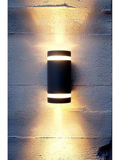 Svart utomhuslampa - Lampekonsulenten Focus Duo wall vägglampa 90s Decorations, Wooden Lamp, Wall Lights, Lighting, Balcony, Design, Home Decor, Diet, Flower