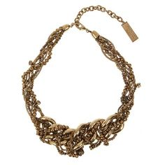 Weekend Max Mara Laghi necklace ($95) ❤ liked on Polyvore featuring jewelry, necklaces, gold, gold jewelry, chunky gold chain necklace, chain necklaces, gold necklace and gold beaded jewelry