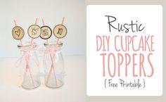 DIY Rustic Cupcake T