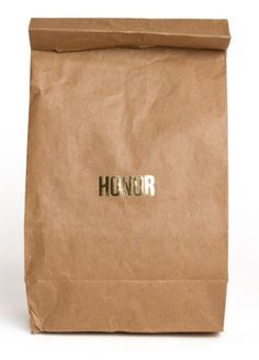 Honour Brown Paper Bag