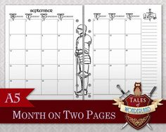 Harry Potter inspired Filofax/Planner Month on 2 pages by Tales of Wonderland