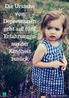 Die Ursache von Depressionen geht auf fünf Erfahrungen aus der Kindheit zurück #depression #psychologie #eltern #erziehung