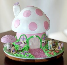 Fairy Mushroom House cake by Say it with Cake, via Flickr