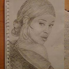 """#Rihanna, I guess.. www.neuxro.wordpress.com  #instaart #pencil #drawing #illustration #portrait #youngblackartists #blackart #sketchbook"""