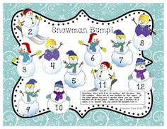 FREE Snowman Math and Literacy activities