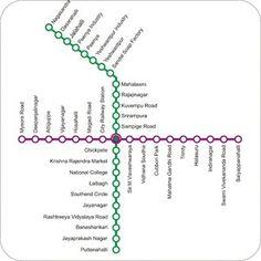 Bangalore Metro Map: Map of Bangalore Metro Train Network