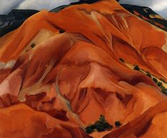 Georgia O'Keeffe   The Mountains, New Mexico, 1951  50x56 inches, oil
