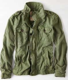 Vintage Military Jacket from American Eagle Outfitters. #teengirlsfashion #springfashion