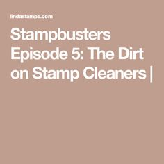 DIY vs commercial stamp cleaners (with recipes & video)
