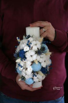 Flowers of Soul: Lumanari de botez Hanukkah, Wreaths, Decor, Decoration, Decorating, Door Wreaths, Dekorasyon, Deco Mesh Wreaths, Dekoration